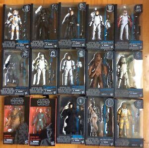 Star Wars Black series Darth Vader Luke Han Stormtrooper Emperor clonetrooper