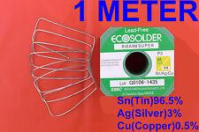 Audio Lead Free Solder 0.8mm 1Meter 3% Silver Soldering Iron OZ SELLER