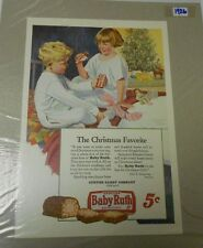 1926 BABY RUTH CANDY Christmas Clipping 8x11 Curtis Candy Company