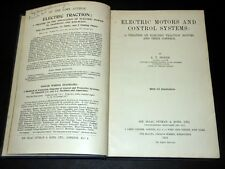 Scienza Ferrovie - Electric Motors and Control Systems - 1^ed. 1918