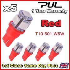 5 X 5 Smd Led 501 T10 W5w Push Cuña 360 Hid lado Rojo Bombilla de luz