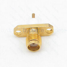 SMA female 2hole panle RFConnector female pin crimp for RG316 RG174 cable 4.1mm