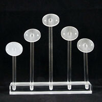 White acrylic perspex earrings jewellery display stand holder case showcase