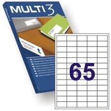 6500 etiquetas adhesivas medida 38x21 2 100 hojas corresponde con Apli 01283