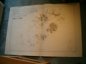 Vintage French Chart 2823 ENGLAND - THE SCILLY ISLES 1908 edn