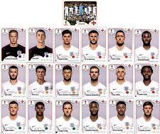Panini WM 2018 Russia Sticker - Mannschaftspaket England (Sticker 573-591)
