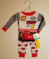 e05aab876e Infant Toddler Boys Disney Cars COTTON Pajamas Set Size 9 12 18 Months NWT  FAST!