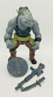 """TMNT 25th Anniversary Rocksteady 5"""" Figure Complete Playmates 55818 2008"""