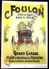 Affiche repro Grand garage Foulon Bar le Duc ateliers mecaniques