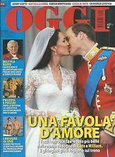 Oggi Italian magazine Kate Middleton Prince William royal wedding Pope John Paul