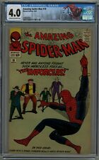 AMAZING SPIDER-MAN #10 CGC 4.0 CREAM TO OFF-WHITE PAGES 1964
