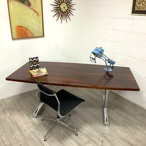 Pieff Rosewood & Chrome TT Eleganza Dining Table Tim Bates mid-century Danish /2