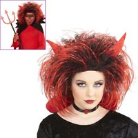 ROTE  TEUFELHÖRNER HAAR Klammer Halloween Theater Accessorie Fancy Dress Teufel