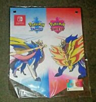 Pokemon Sword and Shield Nintendo Switch Gamestop Fabric Wall Banner Poster
