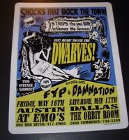 """QUEENS OF THE STONE AGE Denver 1999 Litho Print 11X8.5/"""" poster art LINDSEY KUHN"""