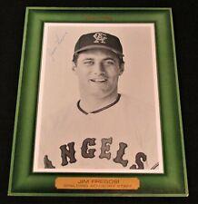 JIM FREGOSI California Angels Original SPALDING ADVISORY PHOTO Secretarial sig.