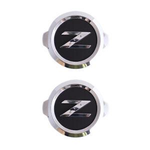 2X Chrome Black Z Logo Front Rear Trunk Badge Emblem for 350Z 370Z Fairlady