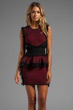 McQ Alexander McQueen Wool Cashmere Fringe Peplum Knit Dress Size Large