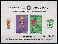 [69024] Uruguay 1981 World Cup Football Soccer Imperf. Souvenir Sheet MNH