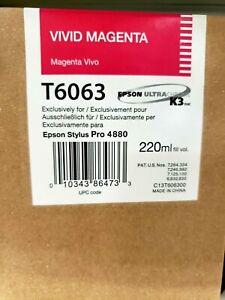 T606300-Genuine Epson K3 Ultra Chrome Vivid Magenta Ink Cartridge, Expired, OEM