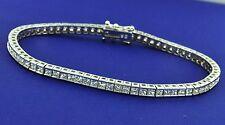 6.00 ct DIAMOND BRACELET TENNIS white gold princess cut 14K made in USA