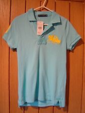 Genuine Ralph Lauren Turquoise Blue Womens Polo Top Size XS NEW (tags) (Ref P)