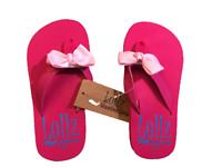 2f0a52dff2882 Wavewear KIDS Shoes GIRLs Flip Flops Arch Support with Bows Pink Black Brown