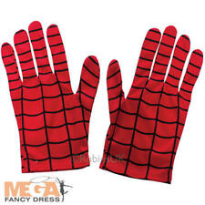 Spiderman Mens Gloves Fancy Dress Superhero Comic Book Adults Costume Accessory