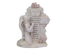 1pce 20cm Kneeling Angel Inspirational Plaque for Garden or Home Décor Spiritua