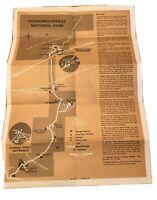 1974 Petrified Forest National Park Arizona Brochure VTG Map Excellent Condition