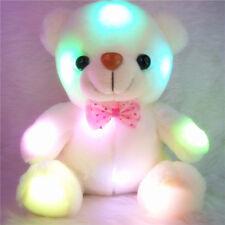 Cute Stuffed Night Light Plush Teddy Bear Soft Doll Baby Toy Xmas Gift for Kids
