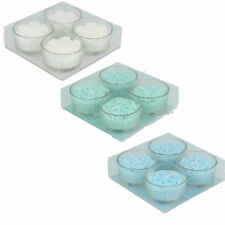 Giftware 17365 White/Green/Blue Glass Scented Candles by Straits