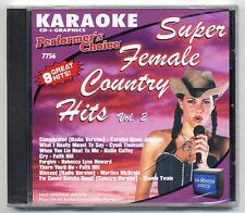 SOUND CHOICE PERFORMER'S CHOICE KARAOKE SC-7756 FEMALE COUNTRY FACTORY SEALED