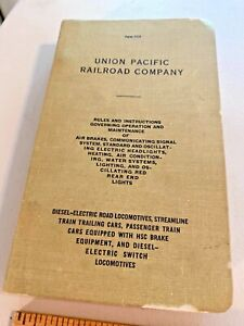 Vintage Union Pacific Railroad Rules & Instruction Book Copyrigh 1947 SKU078-001
