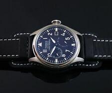 Parnis big Pilot 47mm black dial Power Reserve Chronometer automatic watch 094