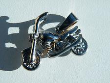 Pendentif Motard Moto Harley Davidson Argenté 30 mm Pur Acier Inoxydable Chaine
