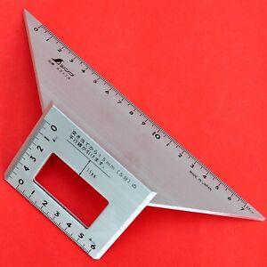 SHINWA 62114 équerre menuisier charpentier aluminium 45 90 135 degrés JAPON