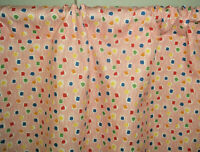 Festive retro confetti girly mid century drapes curtains cotton fabric panels!