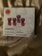 Indoor DOG Shoes Paw Protector Nail Scratch Royal Wise ROSE Size MEDIUM 18-25 Lb