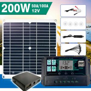 200W Solar Panel für 12V Batterieladegerät 10A-100A Caravan Controller Boats DE