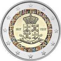 2 Euro Gedenkmünze Belgien 2017 coloriert mit Farbe / Farbmünze Univ. Lüttich