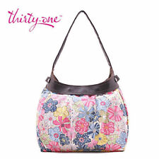 Thirty one City Skirt Purse Hobo Hand Tote bag Free Spirit Floral 31 gift bb