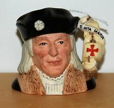 SMALL ROYAL DOULTON CHARACTER JUG CHRISTOPHER COLUMBUS D6911 *** EXCELLENT ***