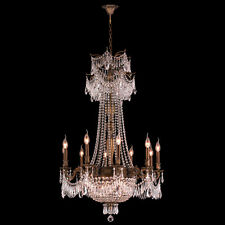 "USA Winchester 18 Light Antique Bronze Finish Crystal Chandelier 36"" x 49"" Large"