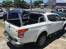 Tradesman rack / Ladder rack set - Mitsubishi MQ Triton - Polished aluminium