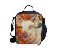 Unique Pig Thermal Insulated Lunch Bag Picnic Lunchbox School Travel for Girls