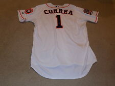 Carlos Correa Game Worn Signed Jersey 2015 Houston Astros MLB