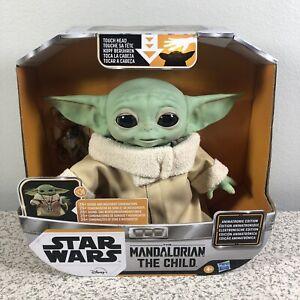"Star Wars The Mandalorian The Child Baby Yoda Animatronic Toy Figure 7.2"" NEW"