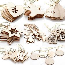 Weihnachten Holz Deko-Anhänger Anhänger Schmuck Elch Sterne Engel Herz Baum Ball