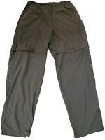 ExOfficio Women's Convertible Pants, Shorts, Size 14, Gray, 100% Nylon, EUC!